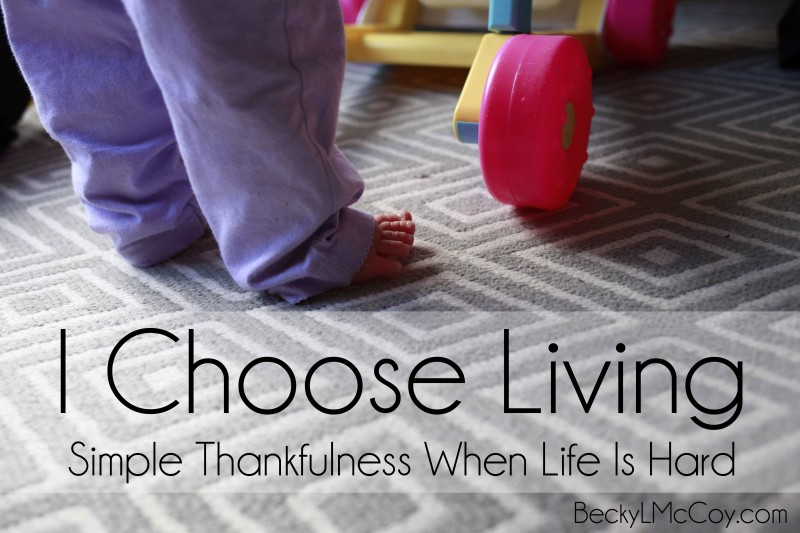 I Choose Thankfulness: Simple Thankfulness When Life Is Hard - BeckyLMcCoy.com