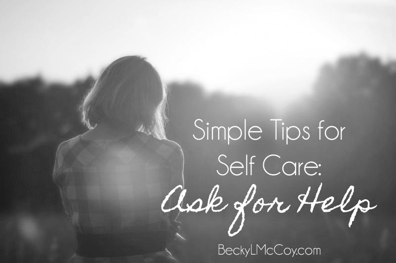 self care ask for help