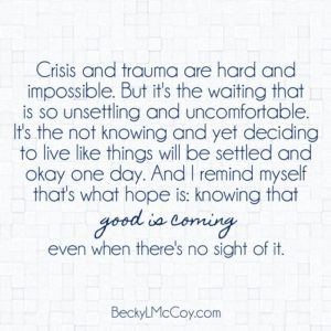For When You're Overwhelmed, Hopeless, & Inadequate | BeckyLMcCoy.com