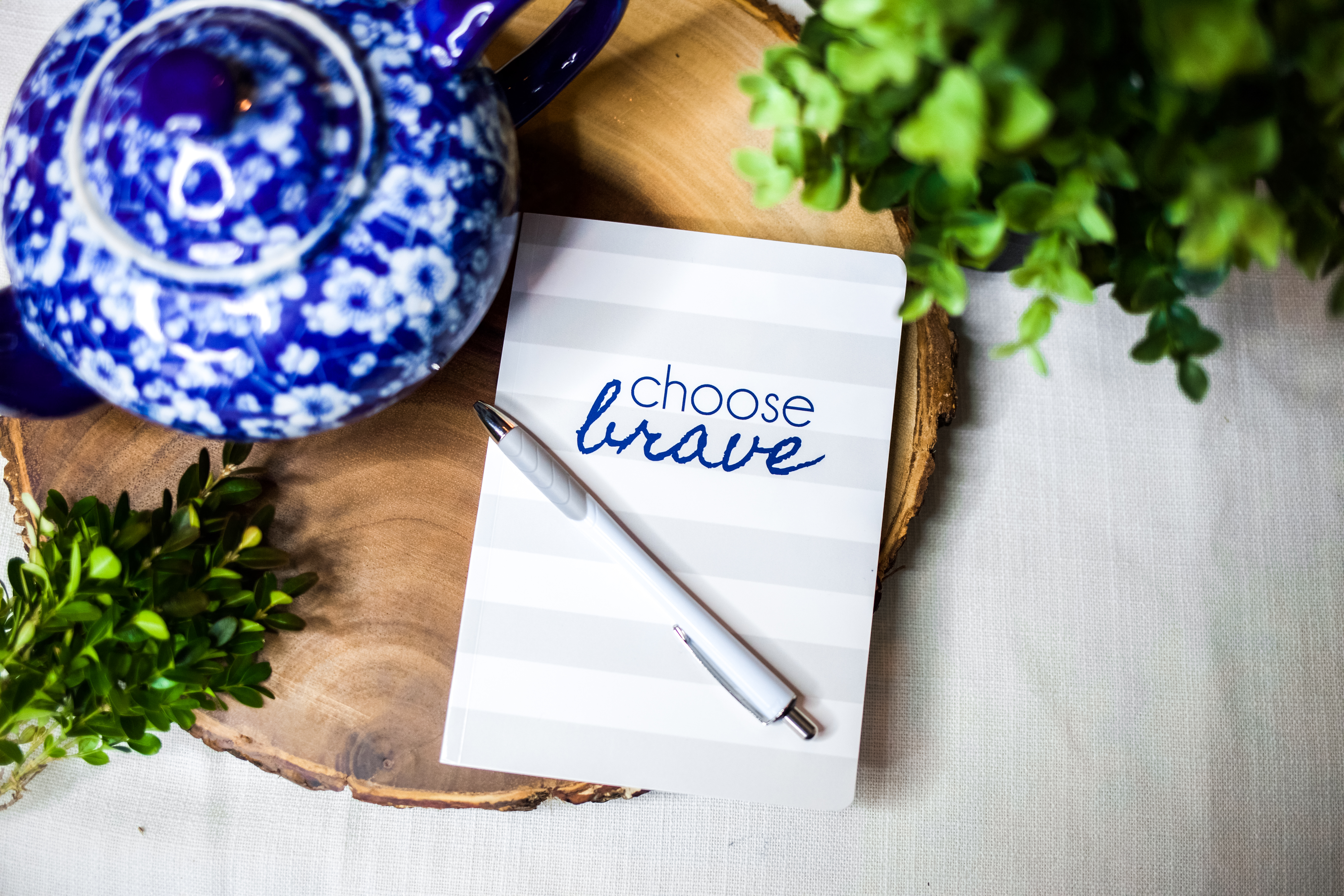 CHOOSE BRAVE Notebook | BeckyLMcCoy.com/shop