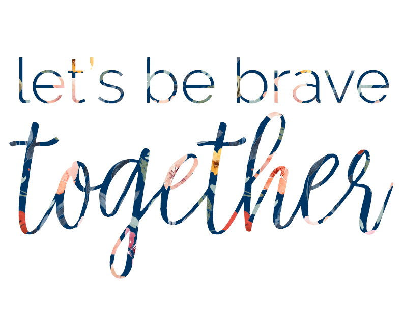 Let's Be Brave Together Notecard | BeckyLMcCoy.com/shop